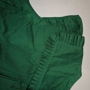 Marc Jacobs Tops - Marc Jacobs Ruffle Trimmed Cap Sleeve Green Blouse
